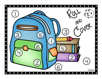 Roll and Cover: A Back to School Math Game