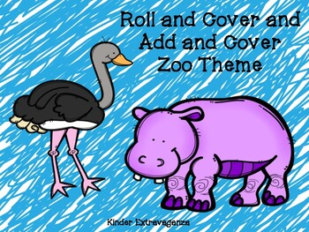 Roll and Cover/Add and Cover Zoo Theme