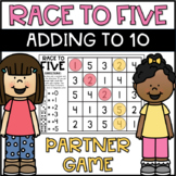 Roll and Cover Addition to 10 Partner Game FREEBIE!