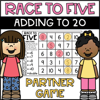 Roll and Cover Addition to 20 Partner Game