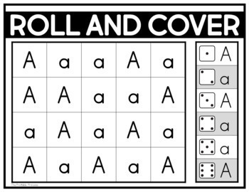 Roll and Cover {Alphabet Activities to Teach Letter Recognition}