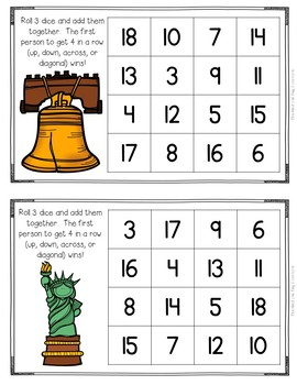 Roll and Cover {American Symbols Addition}
