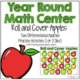 Numbers Roll and Cover Differentiated Kindergarten Math Center