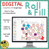 Roll and Cover, Digital Version, Numbers, Math, Interactive, 2-12