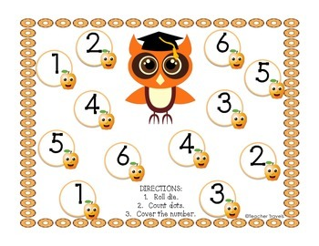 Roll and Cover Fall Owl School Theme