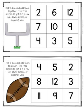 Roll and Cover {Football Addition}
