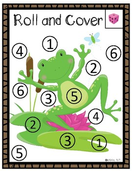 Roll and Cover:  Frogs
