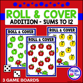 Roll and Cover Game Board - Apples {FREEBIE}