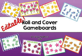 Roll and Cover Gameboards - Editable