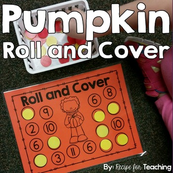 Roll and Cover Games - Pumpkin Theme