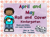 Roll and Cover Games for April and May for Kindergarten Easter and Spring
