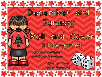 Roll and Cover Games for December and January- Kindergarte