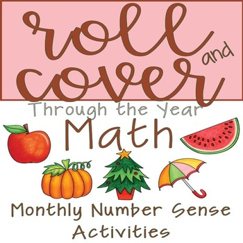Roll and Cover Math Activities Through The Year