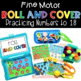 Roll and Cover Math Game Number Sense Activities