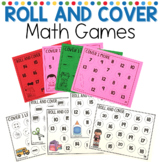 Roll and Cover Math Games for Kindergarten