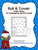 Roll and Cover Math Games for Kindergarten and First Grade