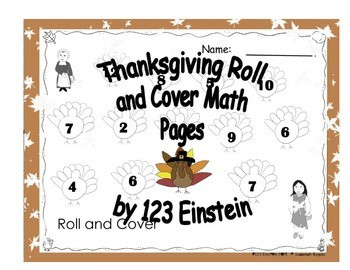 Thanksgiving Roll and Cover Math Pages