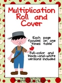 Roll and Cover Multiplication Practice- Johnny Appleseed