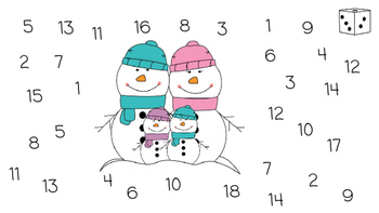 Roll and Cover Number Dice Game- 1-18