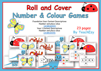 Roll and Cover Number and Colour Games