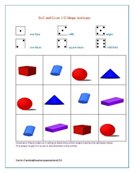Roll and Cover Shape and Attribute 3 in a Row