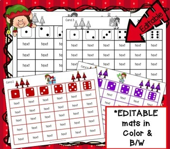 Sight Word Roll and Cover Games – Elf Theme {EDITABLE}