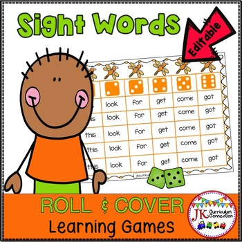 Roll and Cover Sight Word Games – Dragonflies! {EDITABLE}