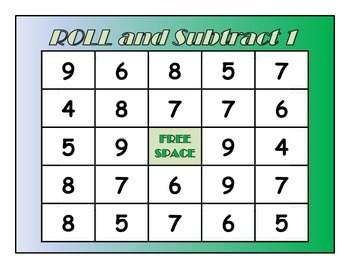 Roll and Cover: Subtraction