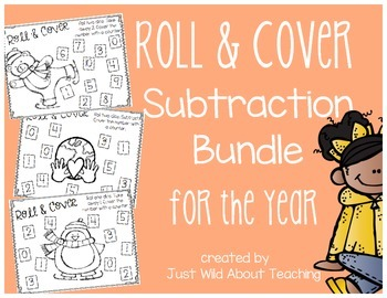 Roll and Cover {Subtraction Bundle} For The Year