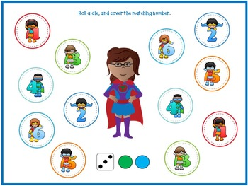Roll and Cover Superhero -For SMART Board