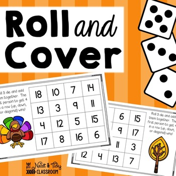 Roll and Cover {Thanksgiving Addition}