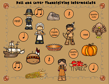 Roll and Cover Thanksgiving Rhythms