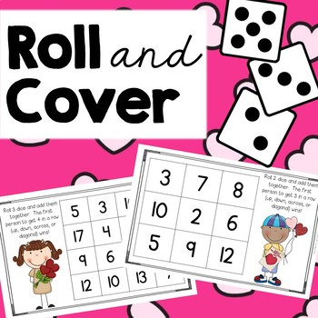 Roll and Cover {Valentine's Day Addition}