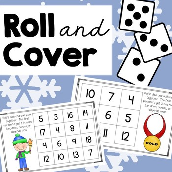 Roll and Cover {Winter Olympics Addition}