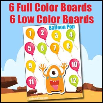 Number Sense Game - Roll and Cover or Bump  - 5 Card Decks to Help Differentiate