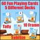 Number Sense Game - Roll and Cover or Bump  - 5 Card Decks