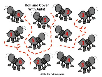 Roll and Cover with Ants