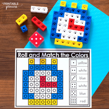 Roll and Match with Color Cubes | Great for Fine Motor, Morning Tubs, or Centers