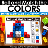 Roll and Match with Color Cubes   Great for Fine Motor, Mo