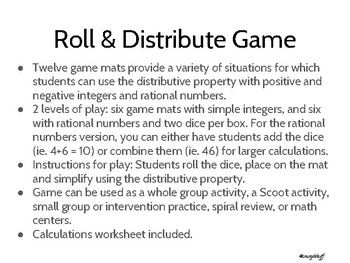 Roll and Distribute Game