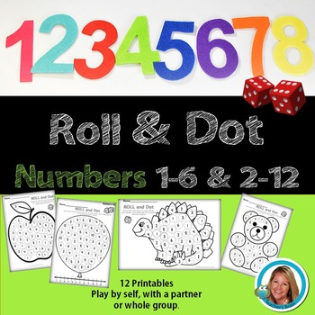Number Sense Kindergarten Activity - Roll and Dot