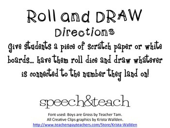 Roll and Draw