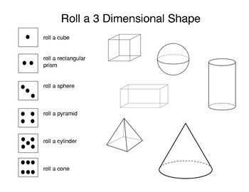 Roll and Draw 3D shapes