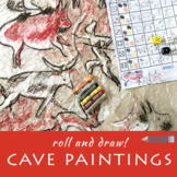 Roll and Draw! - Cave Paintings - Prehistoric Art - Letter size