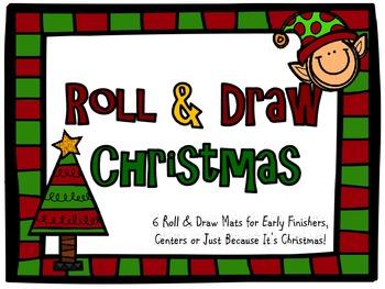 Math- Christmas Roll & Draw