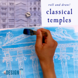 Roll and Draw! - Classical Temples - Greek and Roman architecture - Letter size