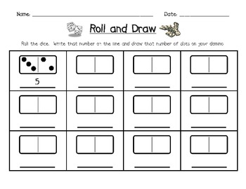 Roll and Draw Domino Activity