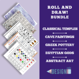 Roll and Draw! Five Art History Games - size A3/A4