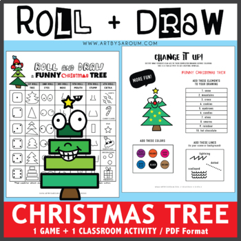 Roll and Draw Game - A Funny Christmas Tree by Saroum V Giroux - Doodle Thinks