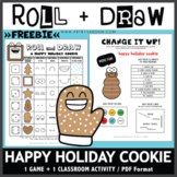 FREEBIE! Roll and Draw Game - Happy Holiday Cookie